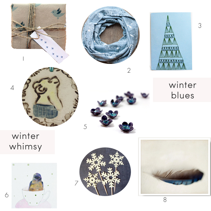 collections:  winter whimsy  and  winter blues