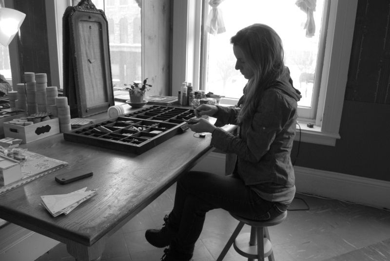 Brooke in her studio