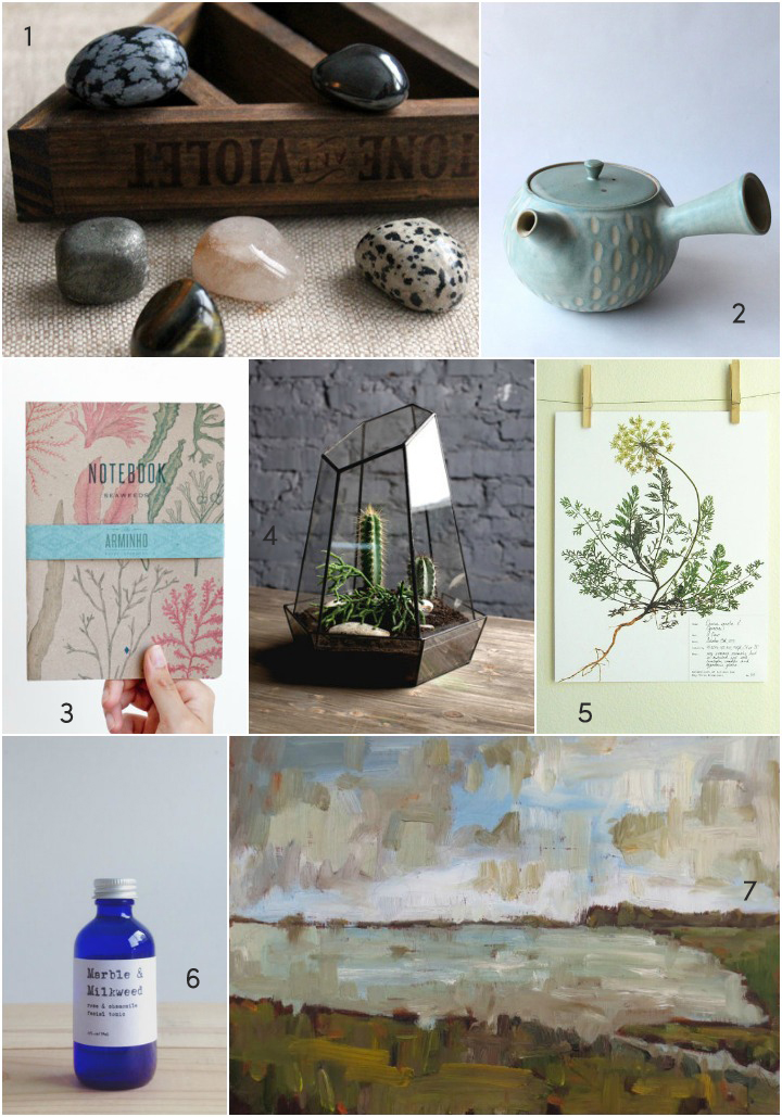 a sampling of items from some of Sarah's favorite artists and makers on Etsy.com