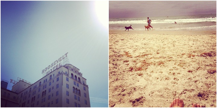 The Roosevelt Hotel in Hollywood and those famous Southern Californian beaches.
