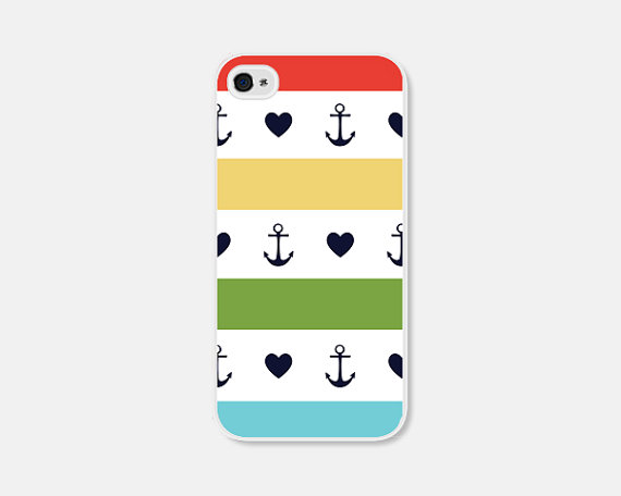 anchor + hearts striped iPhone case :: field trip