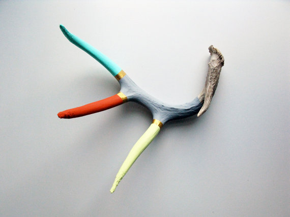 hand painted antler :: made by cassandra smith