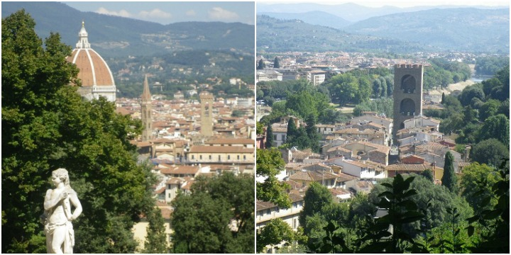 views of Florence from the Giardino Bardini