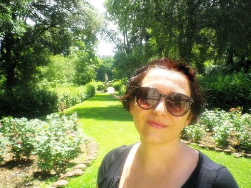 Francesca at the Giardino Bardini