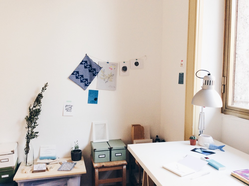 another view of the studio and Mirta's workspace