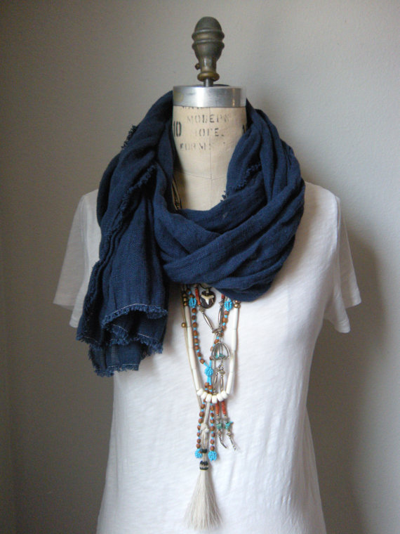 the ingrid - a washed linen scarf