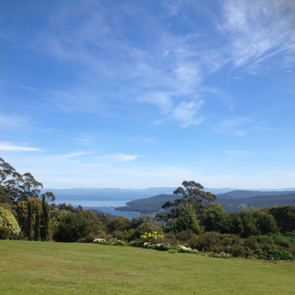 a view from the studio- located in southeastern Tasmania in Australia