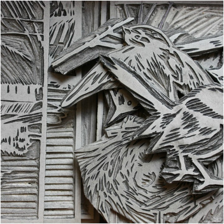 details of some linocuts