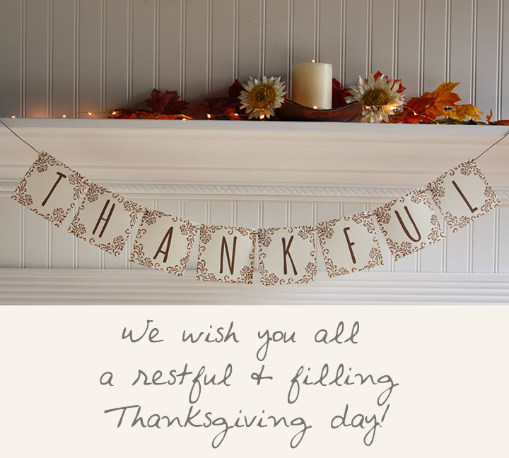 Thankful Banner  by Posh Paper Cottage