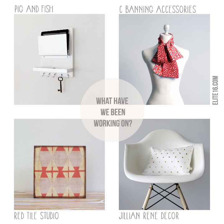 Pig and Fish // C Banning Accessories // Red Tile Studio // Jillian Rene Decor