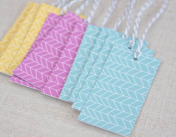 herringbone gift tags