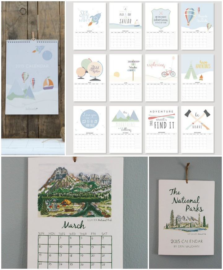 Adventure and Travel Calendars  ::  inspirational sayings  :: toodles noodles &  National Parks  :: erin vaughan