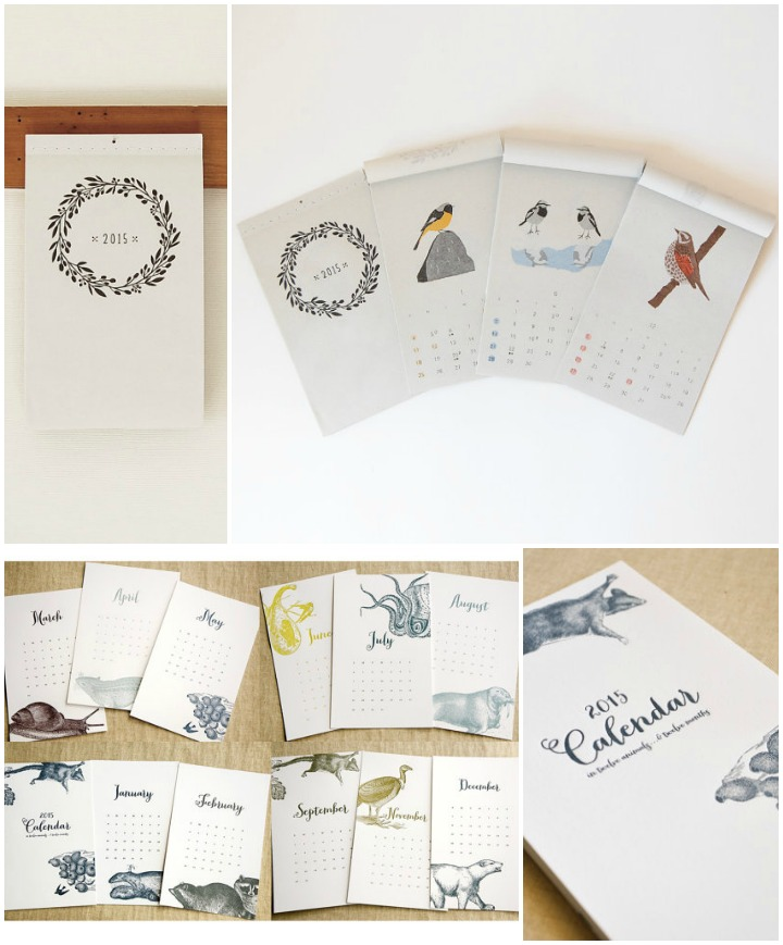 Nature Calendars  ::   calendar of birds  :: itsuko naka &  twelve animals  :: spoon and sailor
