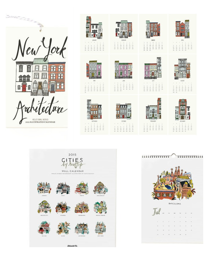 Architecture Calendars  ::  New York Architecture  :: hello small world &  Cities by Rooftop  :: idlewild co.