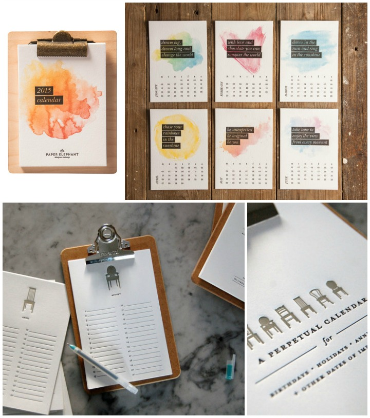 Letterpress Calendars  ::  desktop  :: paper elephant &  perpetual  :: the library press