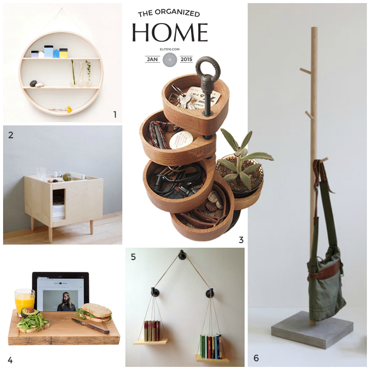 1. Circular Shadow Box  Shelf  by senkki  2. Afternoon Time  Table  by the 9 life  3. Accessories  Organizer  by hitonari works  4. Big Chop  Oak  by atelier van kessel  5. Balance  Bookshelf  by cush design studio  6. Oak Coat  Stand  by b pistorius