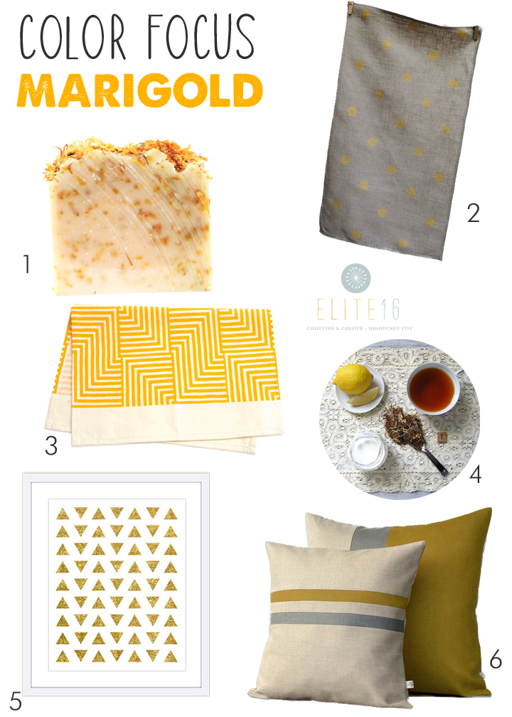 1.  soap  by buck naked soaps  2. polka dot  tea towel  by giardino  3. maze  tea towel  by shapes and colors   4.  tea  by artful tea  5.  art  by aldari art  6.  pillows  by jillian rene decor
