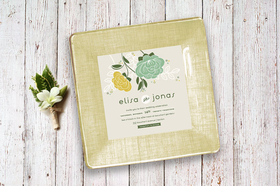 a custom made wedding invitation plate