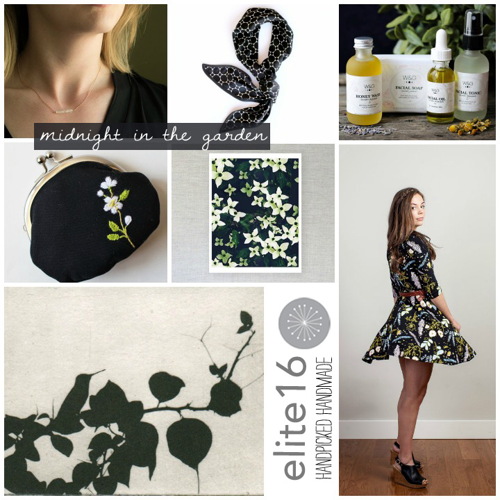 NECKLACE //Burnish    SCARF //C. Banning Accessories   FACIAL GIFT SET/ / Winsome and Green   COIN PURSE //Oktak   FLORAL PATTERN PRINT //Michelle Smith   HUMMINGBIRD ETCHING //88 editions   DESERT FLORAL TWIRLING DRESS //Thief and Bandit