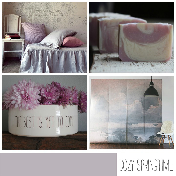 BEDDING //House of Baltic Linen   SOAP //Hidden Acres Soap Co.   SERVING BOWL //Nelle Design   WALL MURAL //Anewall