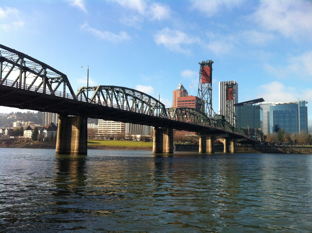 a bridge in Portland, Oregon