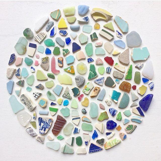Amazing collection of beach finds @beach_shack_project  #beachglass #beachbling #foundobjects #handmade #makers #foundmademodern #jewelry