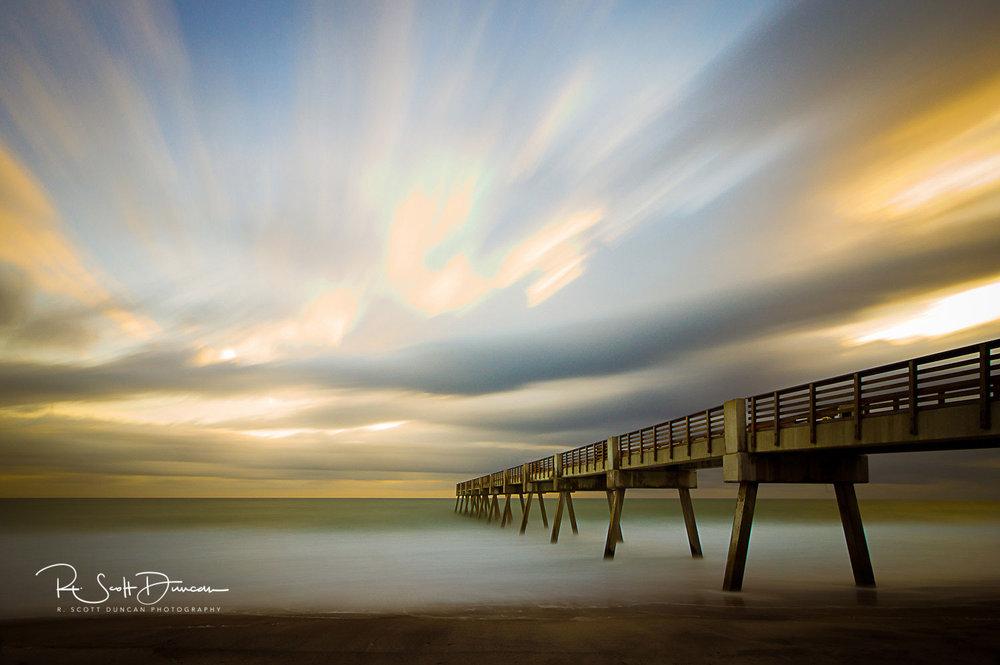 Seascape photography ocean art r scott duncan for Vero beach fishing pier