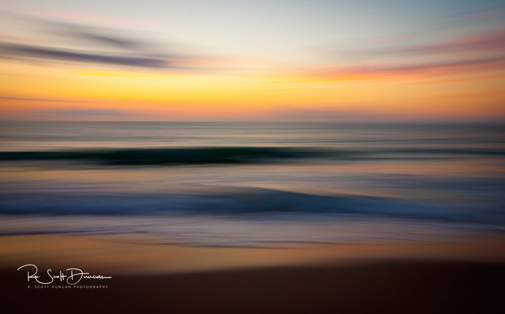 Ocean Seascape Sunrise Vero Beach, FL. - 1/2 second at F14