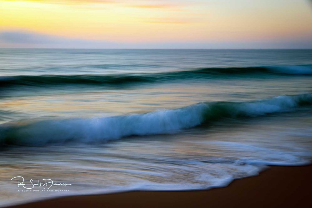 Beach Waves Sunrise Vero Beach, FL. -0.5 at F10