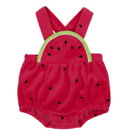 Keep baby cool and cute in our new rompers, bubbles, and bathing suits.