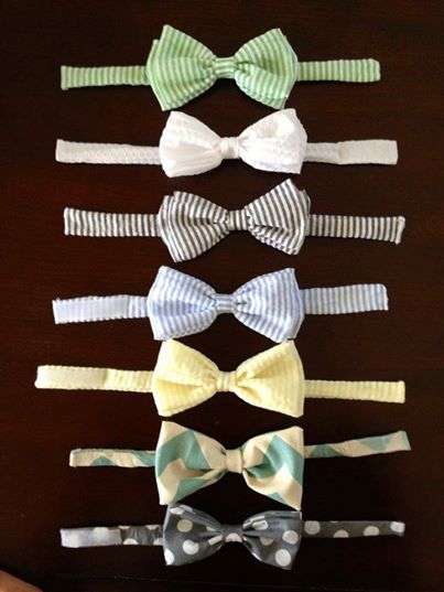 Adjustable bow ties for ages 2-8 are perfect for Easter!  (Or any time you want to dress your mini up!)