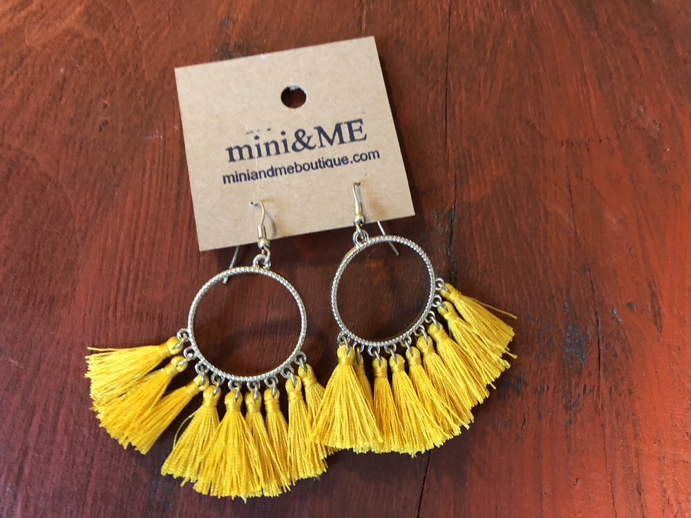 Tassel earrings in fun Fall colors!