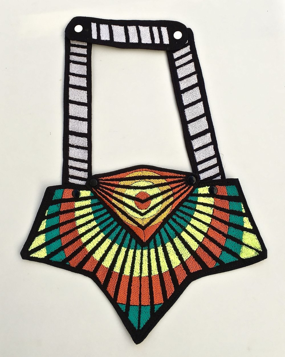 TRIBAL EYE NECKPIECE - STUDIO SAMPLE - ONLY ONE