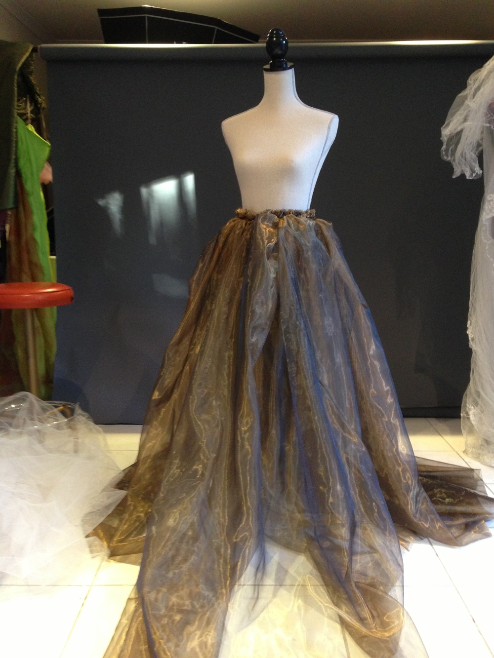 For this image I made the skirt from gold organza.