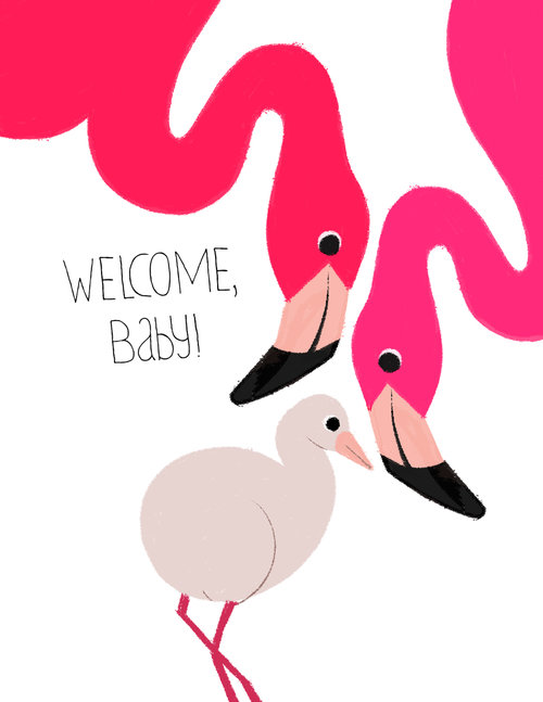 new born baby greeting card - New Born Baby Card