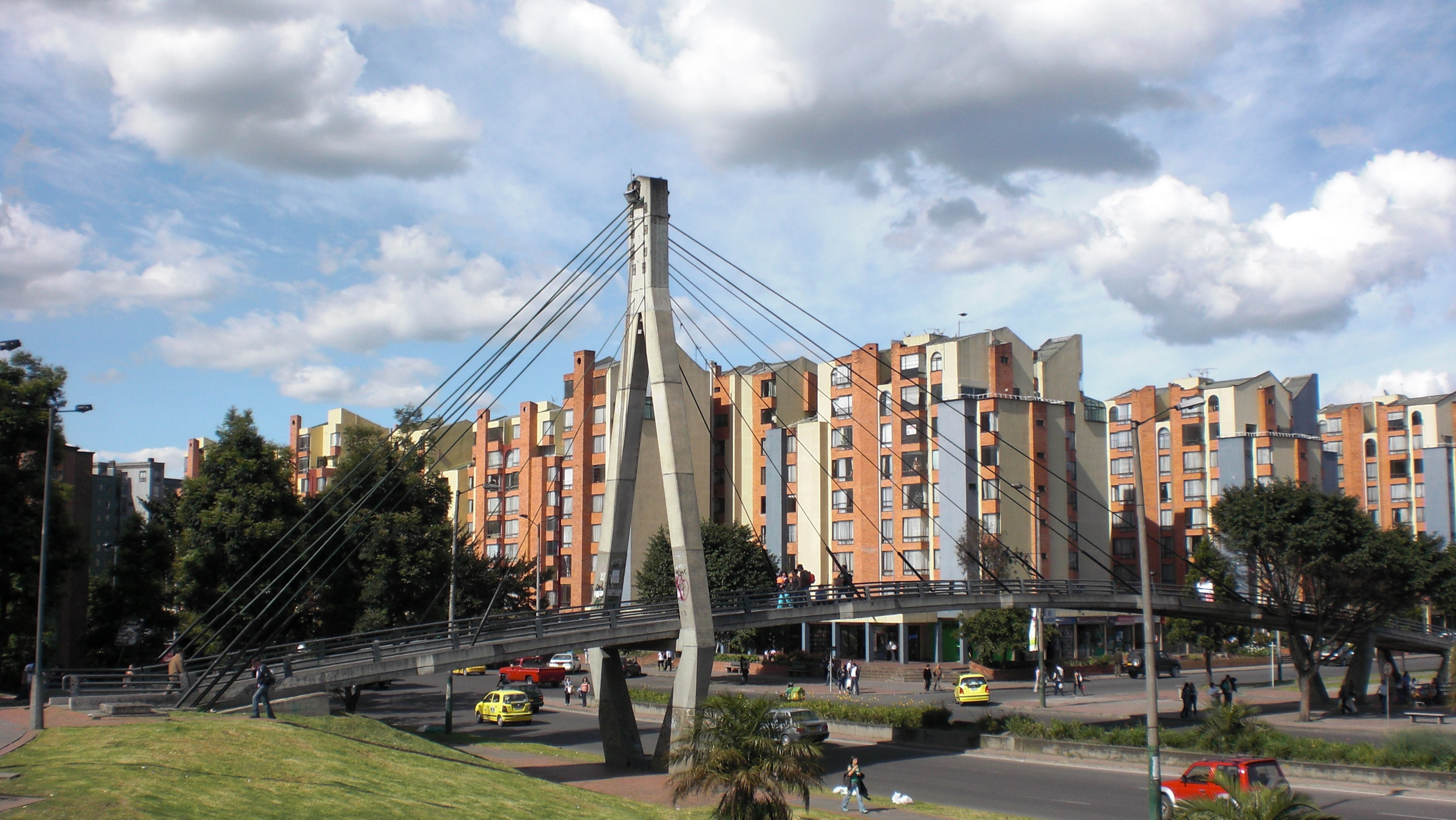 Bogota walking bridge