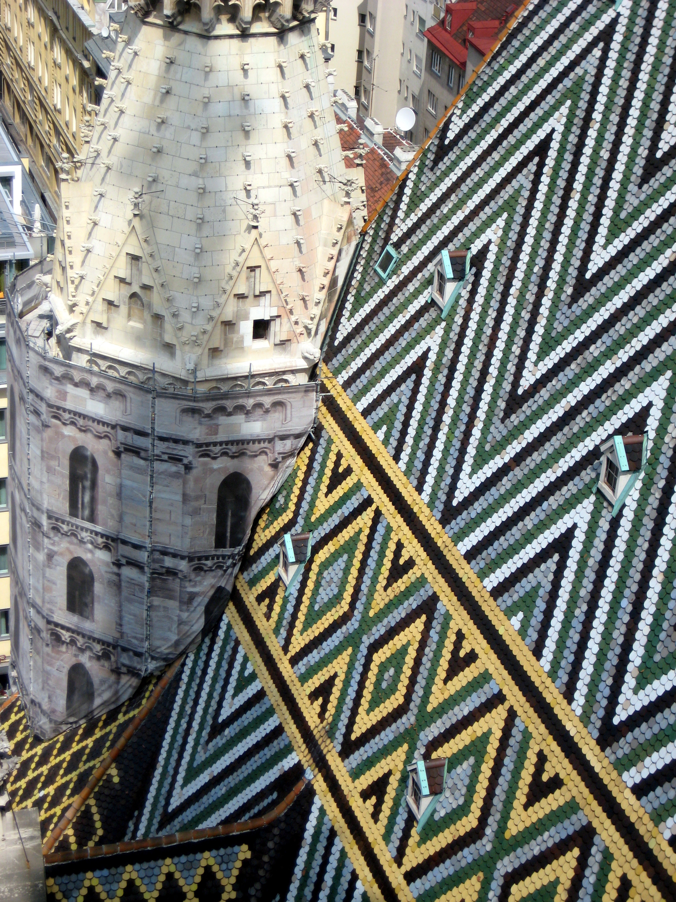 Rooftop St. Stephens Cathedral Vienna