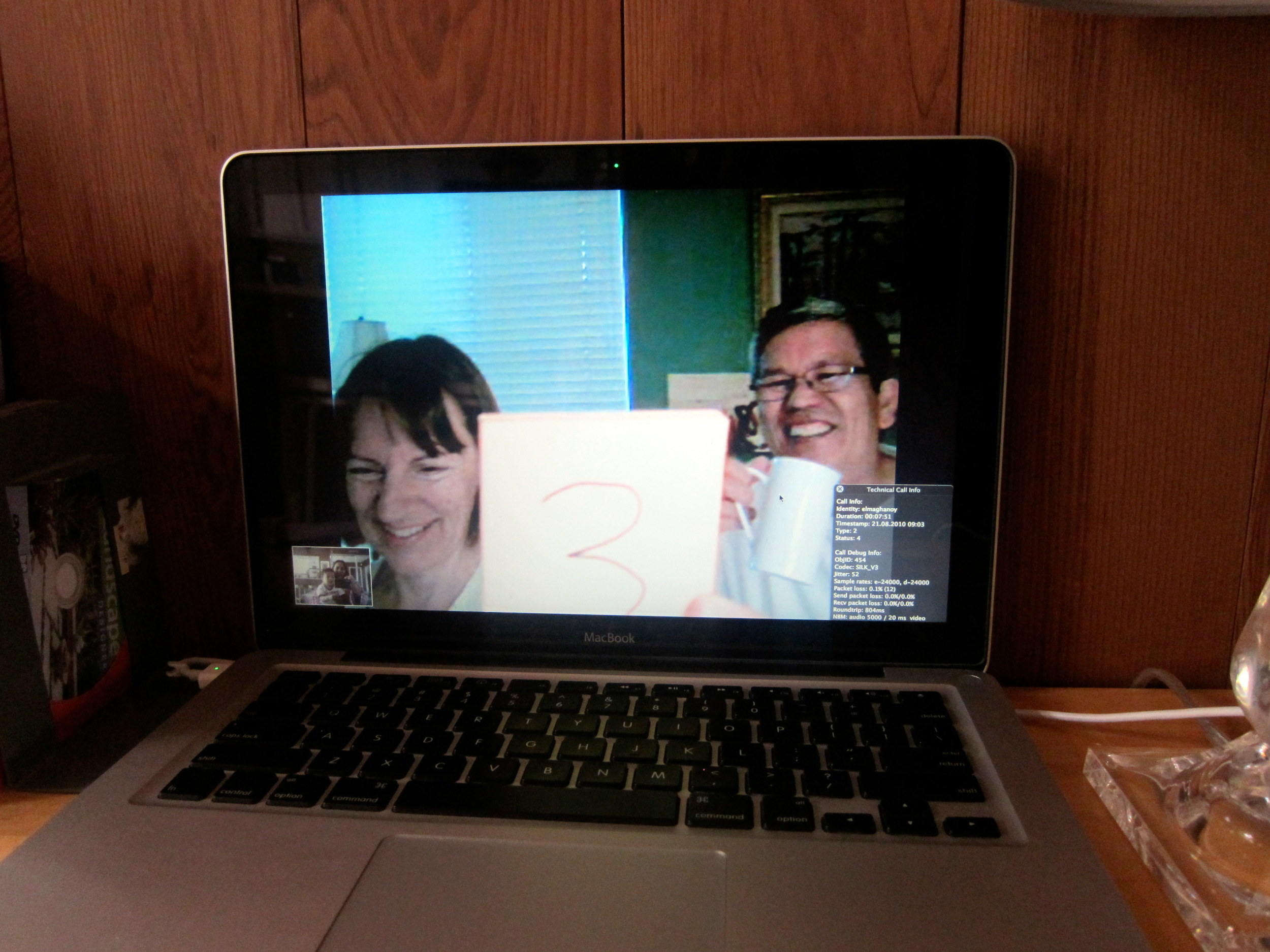 Skyp with Gma and Lolo