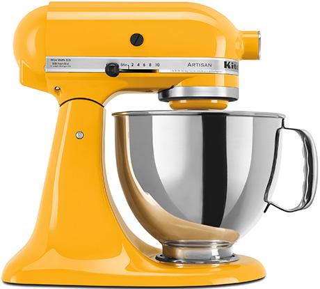 Kitchen Aid mixer yellow