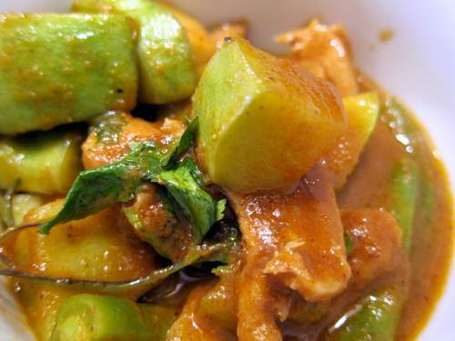 Mole Amarillo con Pollo con Ejotes y Chayote: Chicken in Oaxacan Yellow Mole with Green Beans and Chayote