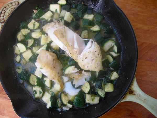 Snapper with Zucchini and Toasty Garlic Mojo