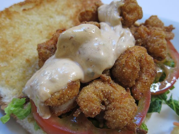 Shrimp Po'Boy at Brenda's Soul Food