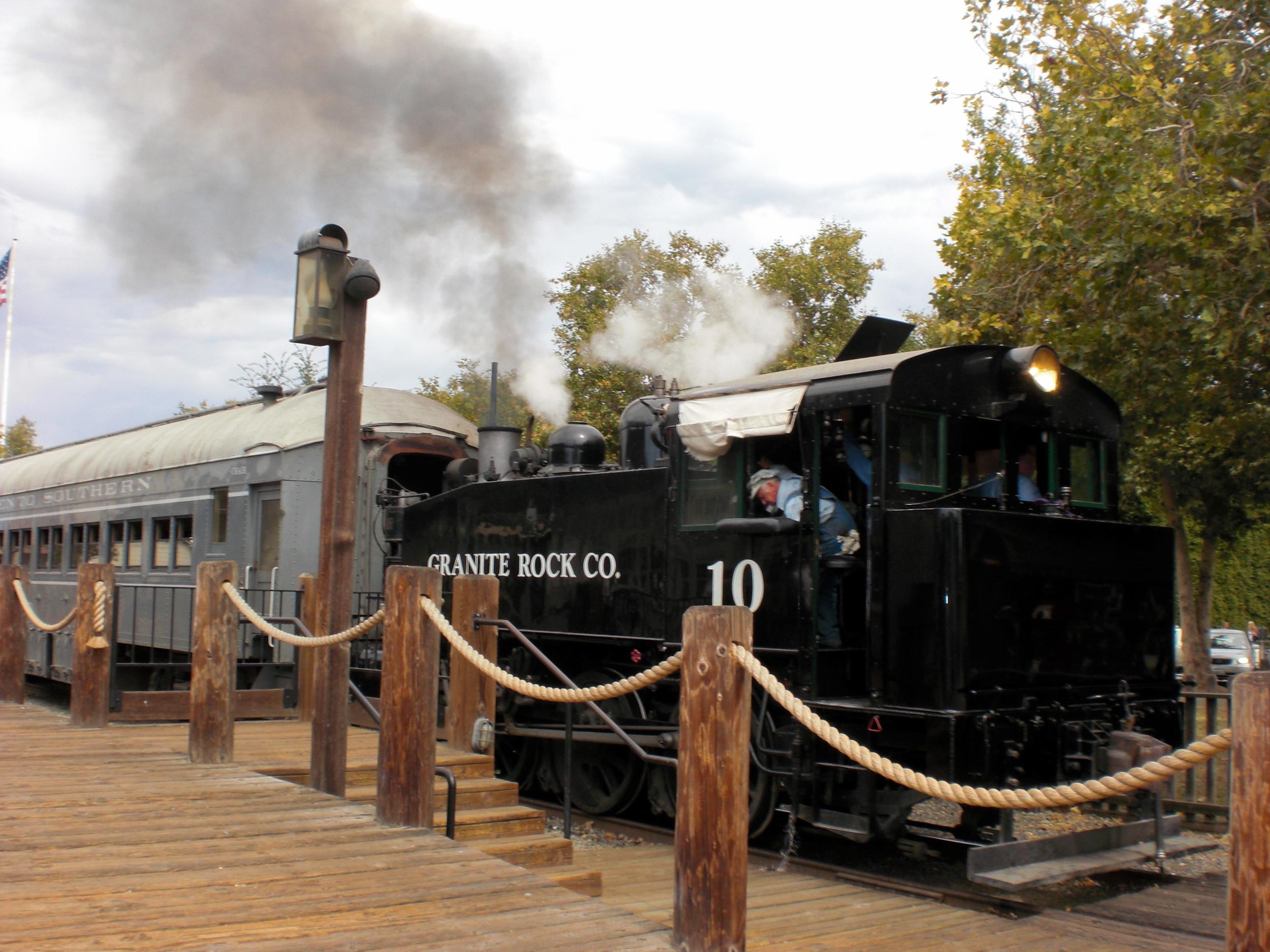 Train in Old Sacramento