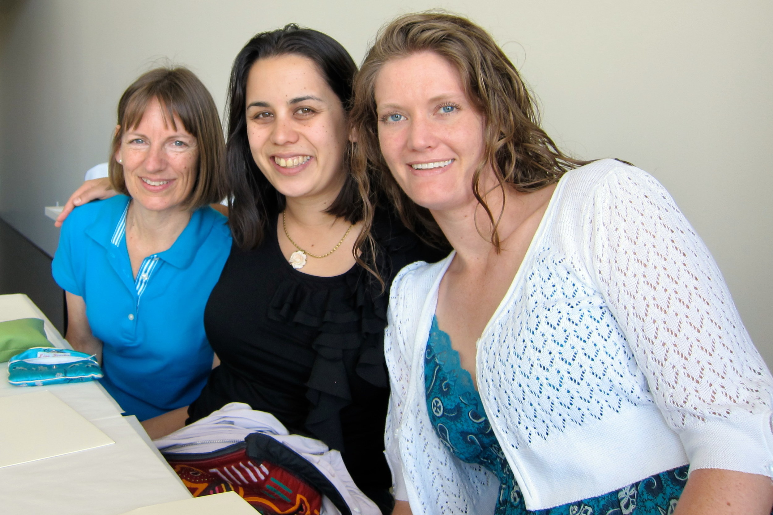 Mom, me and Em at Ginger Elizabeth Cupcake Class