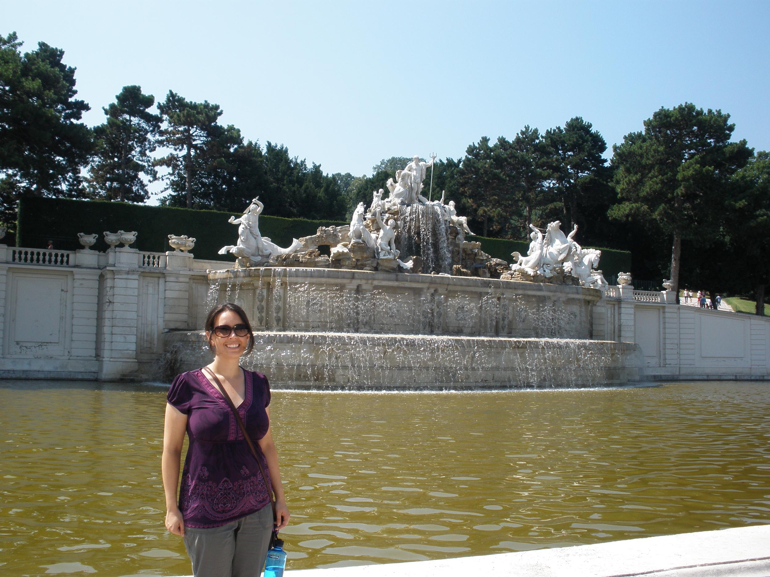 Debi at Schonbrunn Palace