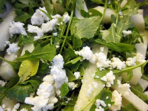 Jicama Salad with Watercress, Romaine and LIme-Cilantro Dressing