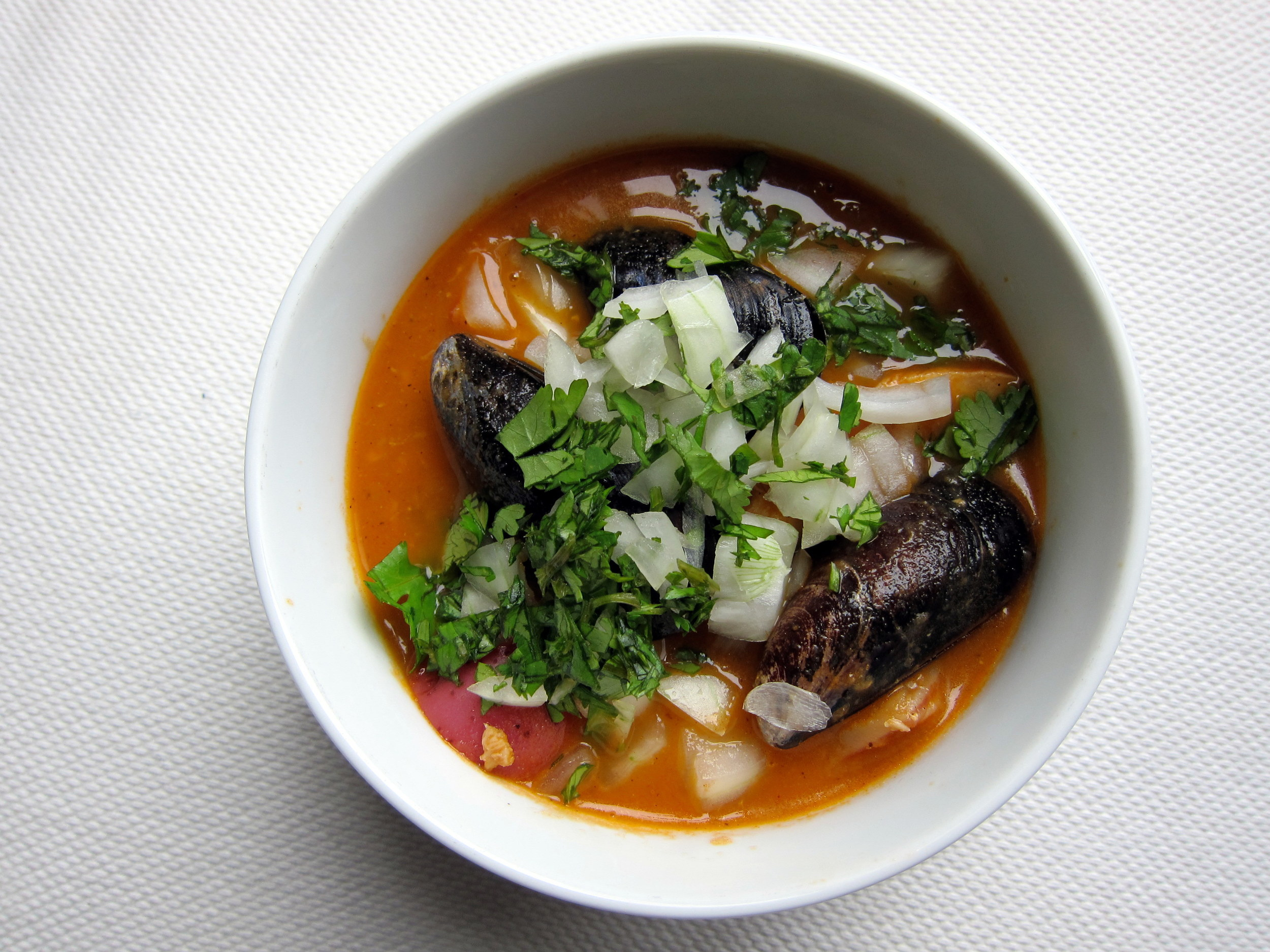 Caldo de Mariscos: Red Chile Seafood Soup