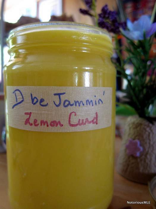 Homemade Lemon Curd and Devonshire Cream