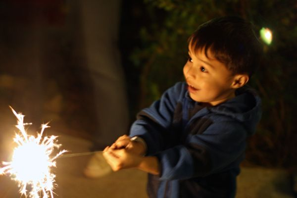 New Years Eve Sparklers 2011-Foto Credit: Debi Power
