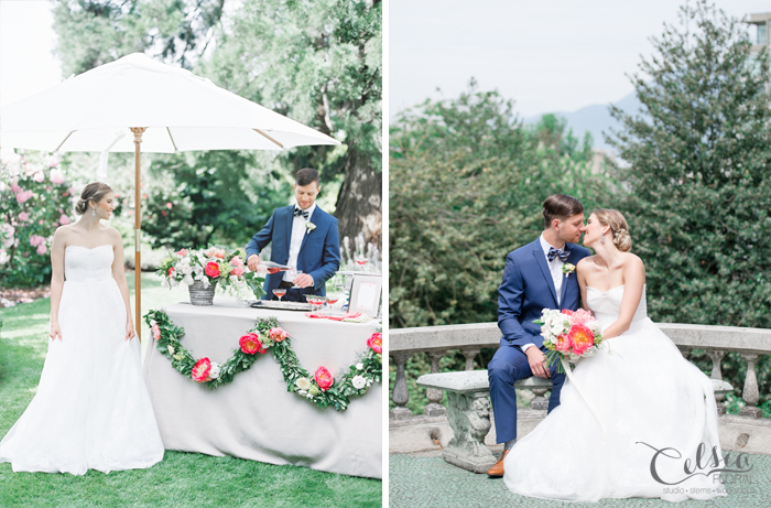 Spring garden party wedding inspiration. Celsia Floral, Spread Love Events, Christie Graham Photography.